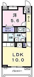 サニーレジデンス稲田本町[206号室号室]の間取り