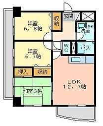 第壱上野マンション[5階]の間取り