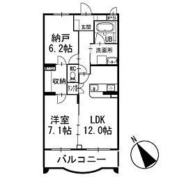プランドールメゾン 3階[304号室]の間取り
