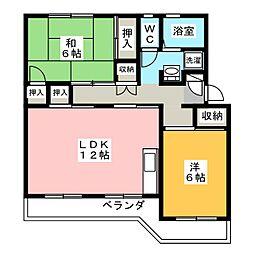 メゾン ポレール[3階]の間取り