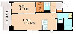 JR香椎線 伊賀駅 徒歩21分の賃貸マンション 2階1LDKの間取り