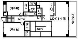 岸和田WINマンション[105号室]の間取り