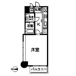 エステートモア箱崎[5階]の間取り