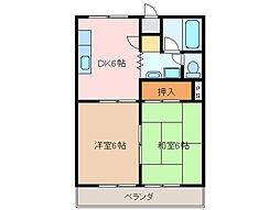 ノーブルパレス[1階]の間取り