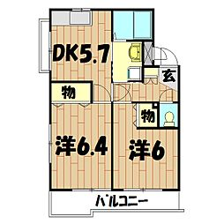 エス・ポワール(川島町)[106号室]の間取り