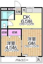 マンション紺利[305号室]の間取り