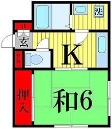 東京都足立区谷中4丁目の賃貸マンションの間取り