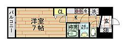 W-STYLE 福島[6階]の間取り