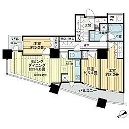 ザ・パークハウス西新宿タワー60[11階]の間取り