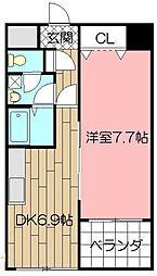 インターフェイス竪町[6階]の間取り