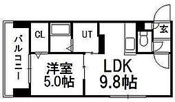 サンコート円山ガーデンヒルズ[8階]の間取り