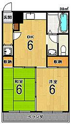 サンライブマンションI[3F号室]の間取り