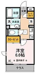 神奈川県横浜市南区西中町2丁目の賃貸アパートの間取り