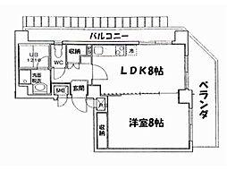 京都府京都市上京区西院町の賃貸マンションの間取り