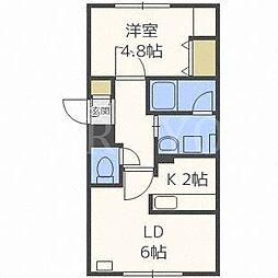 北海道札幌市白石区本郷通12丁目南の賃貸マンションの間取り