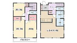 [一戸建] 神奈川県相模原市南区大野台5丁目 の賃貸【/】の間取り