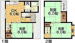 [一戸建] 京都府京都市伏見区成町 の賃貸【/】の間取り