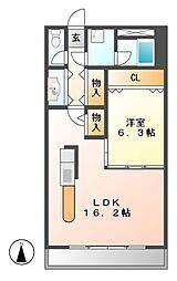 コーポニュー中川[3階]の間取り