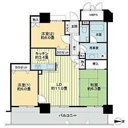 ライオンズタワー仙台長町[29階]の間取り