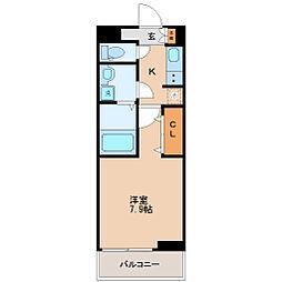JR仙山線 東照宮駅 徒歩13分の賃貸アパート 2階1Kの間取り
