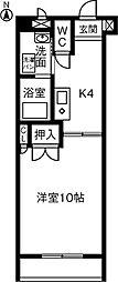 エクセル浅山[102号室]の間取り