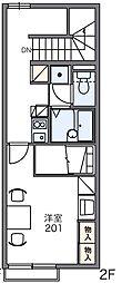 レオパレス永田[1階]の間取り
