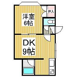 プラティーク・ジョア[3階]の間取り