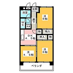 モナミマンション[4階]の間取り