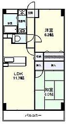 レジデンス塚田[103号室]の間取り