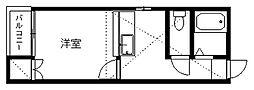 新潟県新潟市中央区弁天橋通1丁目の賃貸アパートの間取り