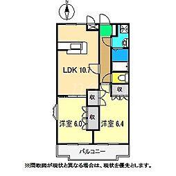 フローラル・アベニュー弐番館[2階]の間取り