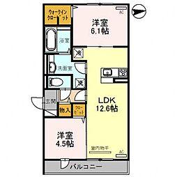 レオンガーデン 〜leon Garden〜[2O6号室号室]の間取り