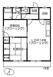 コーポHIYOSHI[101号室]の間取り