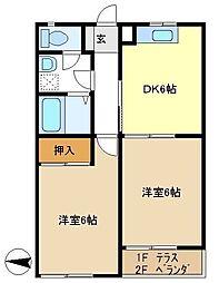 ローズメゾン 203[2階]の間取り