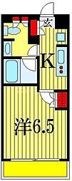 BPRレジデンス本八幡 4階1Kの間取り