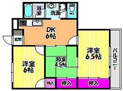 SAMURAIマンション[2階]の間取り