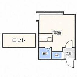 エスポアール清田[2階]の間取り