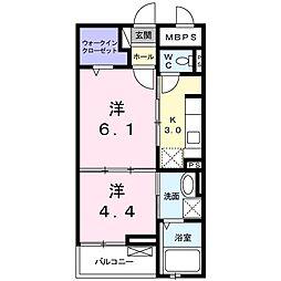 ロイヤル千代田[2階]の間取り