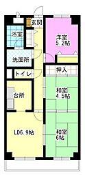 スカール富田公園[506号室]の間取り