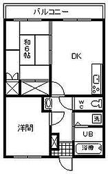 マンション津守2[305号室]の間取り