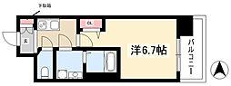 S-RESIDENCE上前津 14階1Kの間取り
