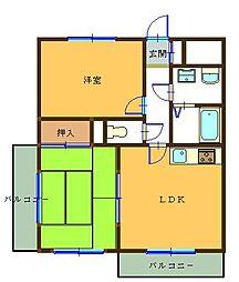 ブルーパールマンション[4階]の間取り