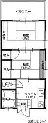 東鎌ヶ谷・三原コーポ[101号室号室]の間取り