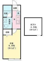 東京都調布市仙川町2丁目の賃貸アパートの間取り