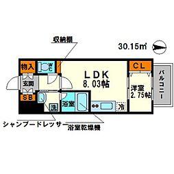 modern palazzo江坂AXIAII[3階]の間取り