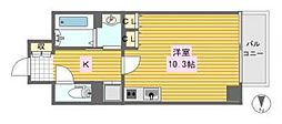 レジェンドール心斎橋東[11階]の間取り