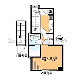 東京都品川区旗の台2丁目の賃貸マンションの間取り