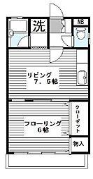 大野マンション[302号室]の間取り