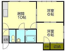 スイートホーム21[104号室]の間取り