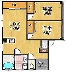 メゾンカルム[3階]の間取り